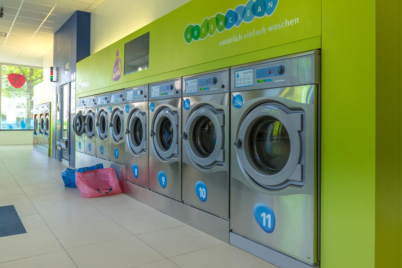 Münzwäscherei-Waschsalon-Münzwaschsalon-Selbstbedienungs-Waschsalon